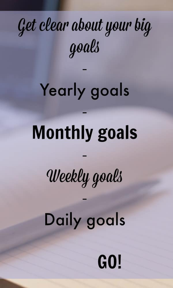 Goal setting tips. Have you set your monthly goals?