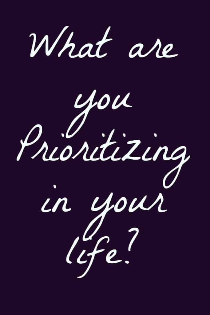 Prioritize your goals in order of importance