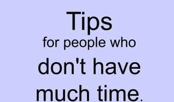 Declutter tips for people who don't have much time ~ Time management tip 26