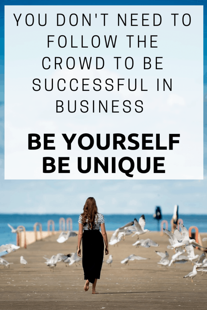 You don't need to follow the crowd to be successful in business - Be yourself, do your own thing...  #Business #success