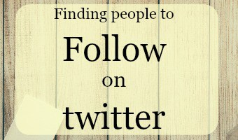 An eay way to find people to follow on twitter