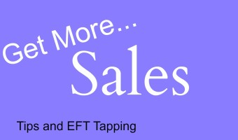 Tips to get more sales. Today we're focusing on getting a positive mindset to set you up to make more sales. Use the law of attraction to get more sales and EFT to clear negative energy around increasing your sales.