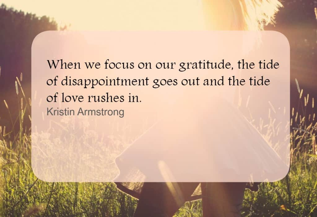 Focus on gratitude. Read more on gratitude in business
