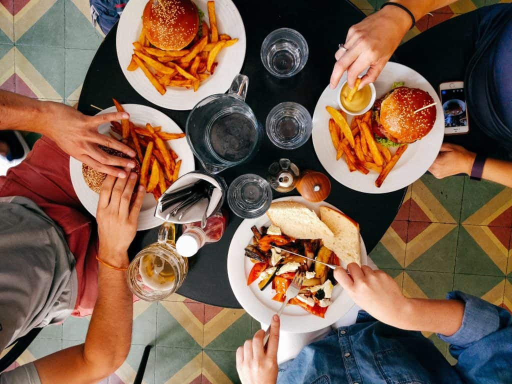 Get your family involved in getting meals ready and then really take the time to enjoy the meal with them