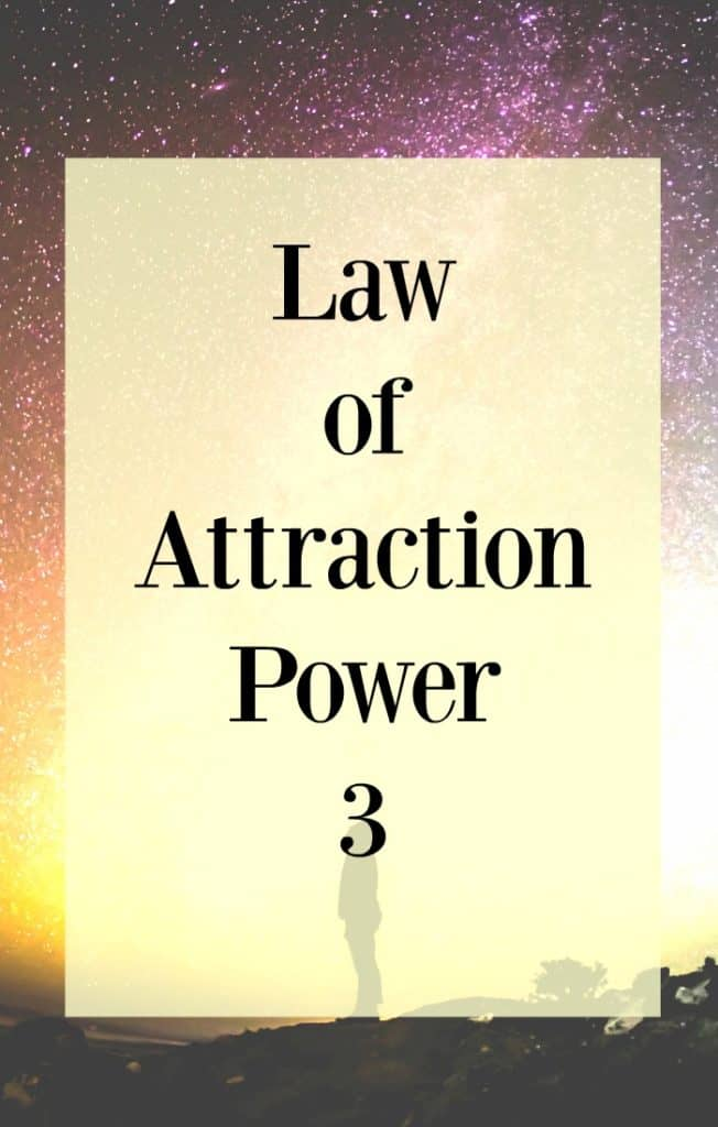 Law of attraction basics for business success and life. Focus on this law of attraction power 3 - Clarity, raise your vibrations and allow.