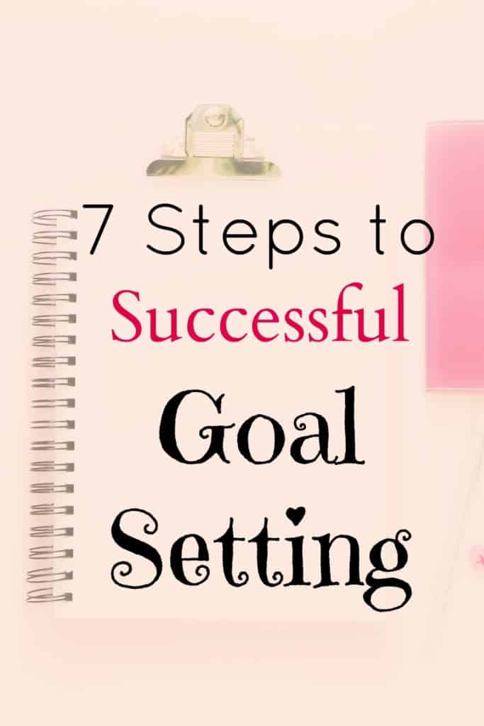 7 steps to successful goal setting.