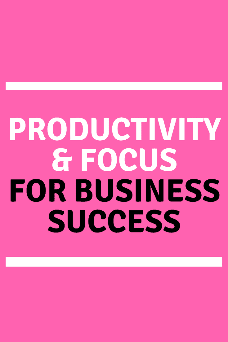 Productivity and focus tips for business success. I absolutely believe that productivity and focus are the keys to long term business success.