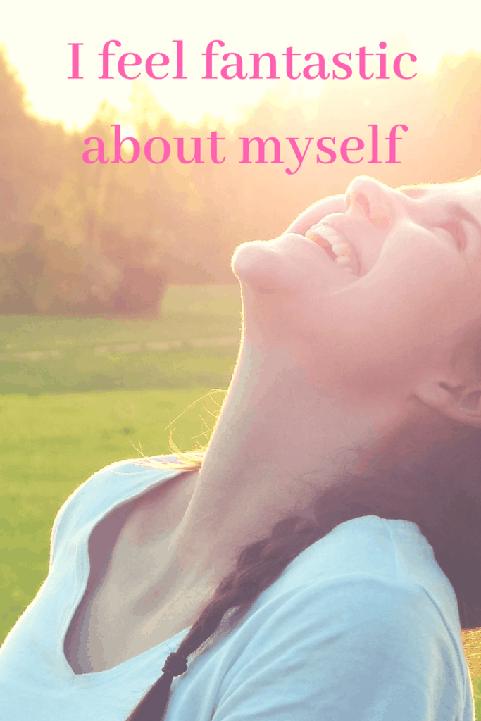 I feel fantastic about myself - Affirmation for self-esteem. Click through for more affirmations to improve your self-esteem.
