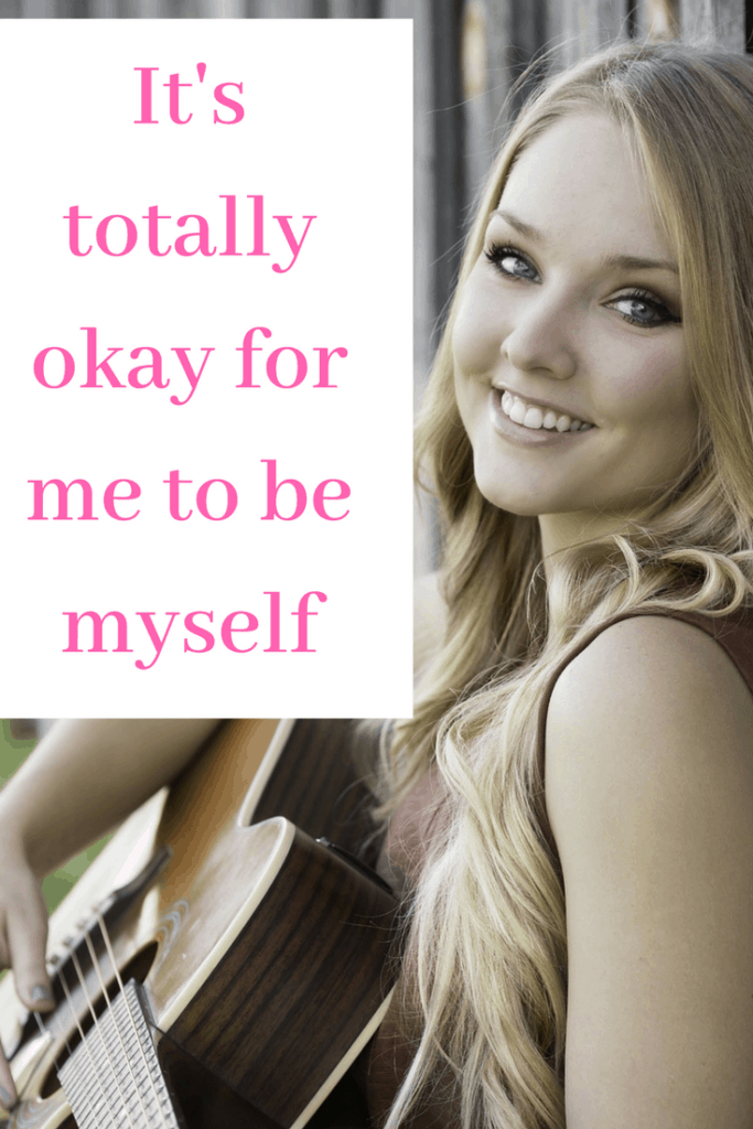 Self-esteem affirmation - It's totally okay for me to be myself