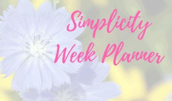 Simplicity week planner printout