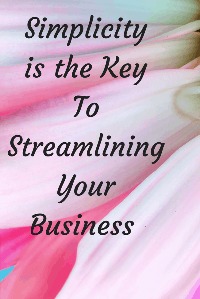 Simplicity is the Key To Streamlining Your Business