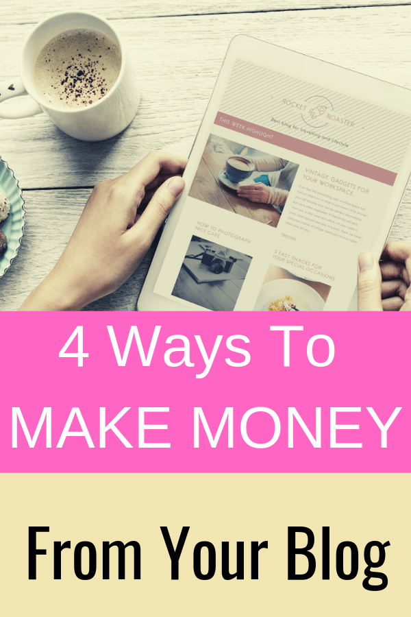 How to make money blogging - 4 ways that I make money on my blog as a full-time blogger.  #Blogging #BloggingTips #MakeMoneyBlogging #MakeMoneyOnline