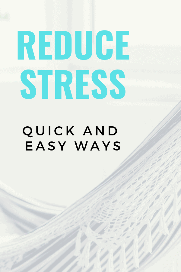 Reduce stress quickly and easily