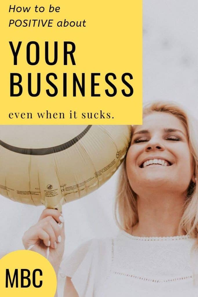 Learn how to talk about your business in a positive way even if it sucks right now.  When you are able to be positive about your business, you add positive energy to the business helping to use the law of attraction to create the business you want.