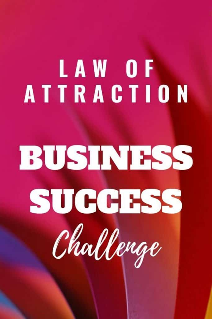 Law of attraction business success challenge.  Deliberately use the law of attraction to help create your ideal business