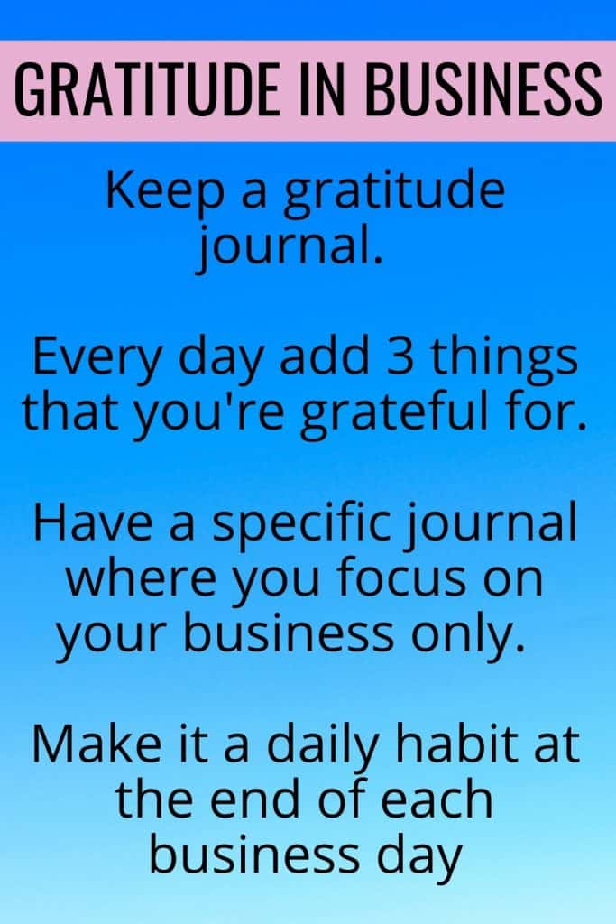 Use a gratitude journal to help you focus on what you're already grateful for in your business and read why gratitude in business is so important.